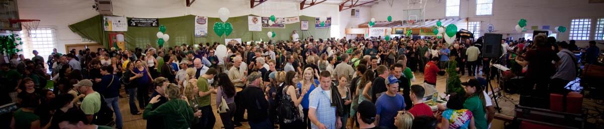 Wide View of Brewfest Inside Beer Garden