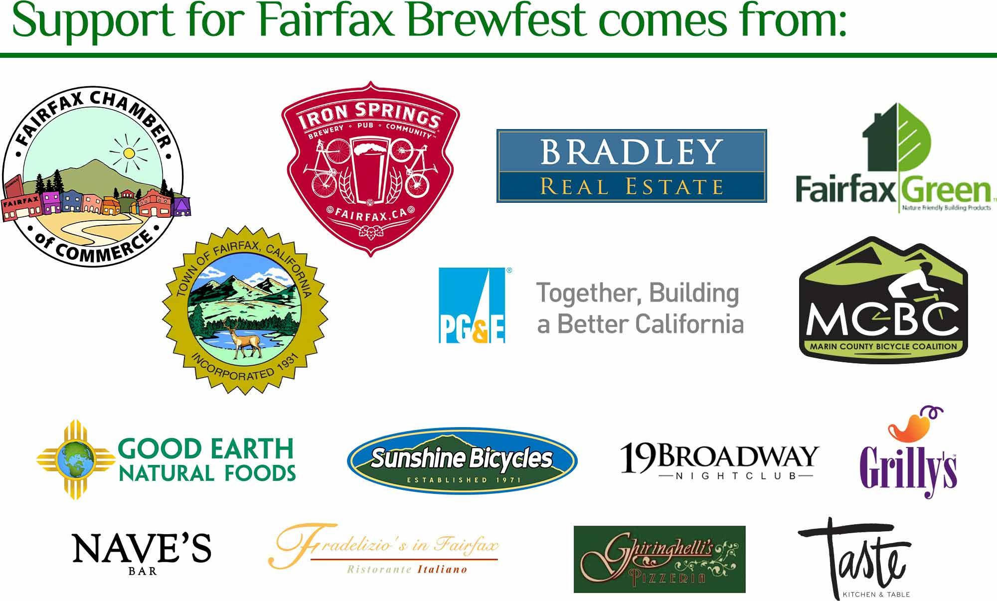Fairfax Brewfest Sponsors 2016